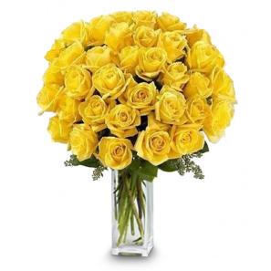 36 Long Stemmed Yellow Roses