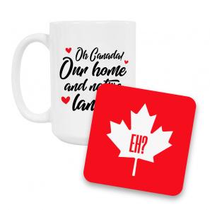 Canada Day Coffee Mug and Coaster Set I