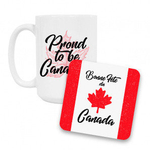 Canada Day Coffee Mug and Coaster Set III