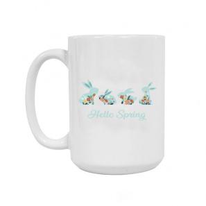 Hello Spring Ceramic Mug 15oz