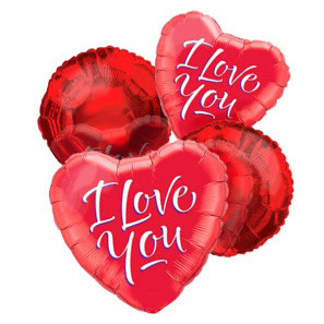 """""""I Love You"""" Balloon Bouquet (4) buy at Florist"""