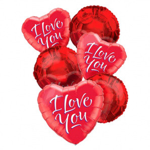 """""""I Love You"""" Balloon Bouquet (6) buy at Florist"""