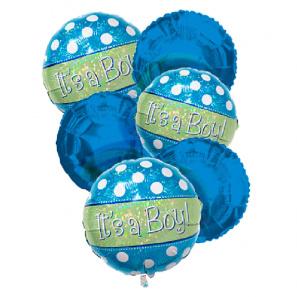 """It's a Boy"" Balloon Bouquet (6) buy at Florist"
