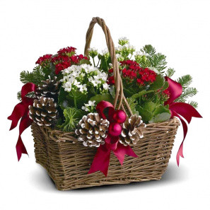 Joyeux Noel Planter Basket